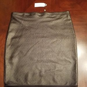 Sophie Max faux leather skirt size M NWT